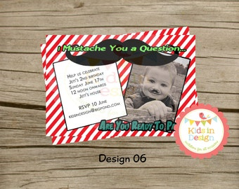 Boys Birthday Invitation - Digital Jpg File