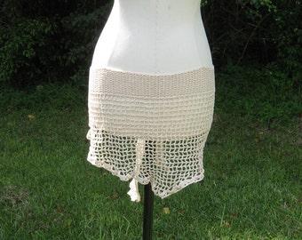 Cream Crochet Bikini Wrap
