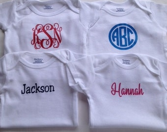 Monogram Baby Clothes - Personalized Baby Clothes - Personalized Baby Bodysuit - Monogram Bodysuit - Baby Girl Clothes - Baby Boy Clothes