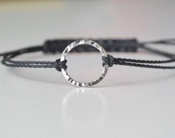 Karma Bracelet,  Eternity Bracelet,  Circle Bracelet, Anklet Adjustable Bracelet