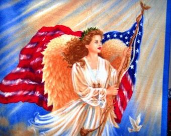 Liberty Angel Old Glory Fleece Throw