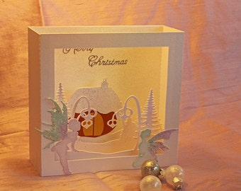 SVG 3D Fairy house Christmas card DIGITAL DOWNLOAD
