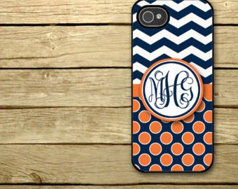 Personalized iPhone Case, - iPhone 5, iPhone 6, iPhone 7, Samsung Galaxy S5, Galaxy s6, Samsung S7 - Auburn  - 051