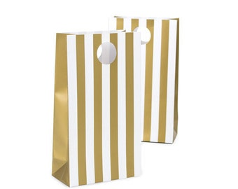 Gold Party Favor Bags - Candy Buffet Bags - Petite Party Studio