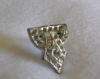 Really Old Tiny Rhinestone Lapel Pin