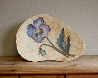 Blue flower ceramic bowl