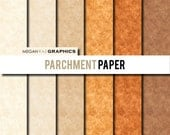 Digital Paper - 8x8 PARCHMENT PAPER background digital paper pack (High resolution papers) - Digital files