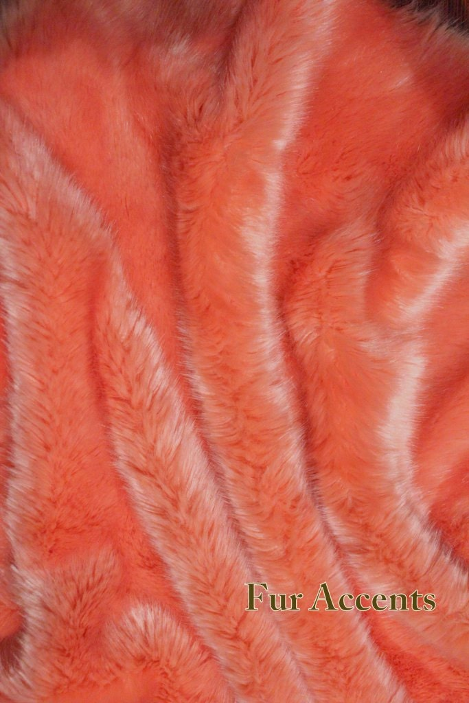 Luxurious Soft Coral Faux Fur Throw Blanket Comforter