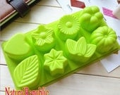 Flower Heart Cake Mold Soap molds 3d Flexible Silicone Mould Candle Candy Resin Crafts bath bomb mold soap making polymer clay baking tools
