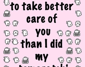 Tamagotchi Love Card