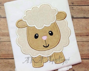 Lydia Lamb Applique Embroidery Design