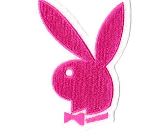 play boy bunny embroidered iron on patch