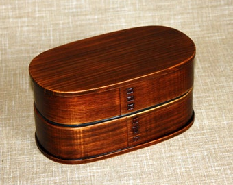 Japanese Bento Lunch Box Magewappa lacquering natural wood 2 Tier box