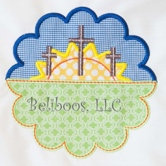 Cross applique design embroidery easter