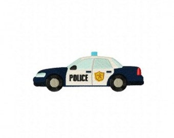 Cool Police Car Machine Embroidery Design