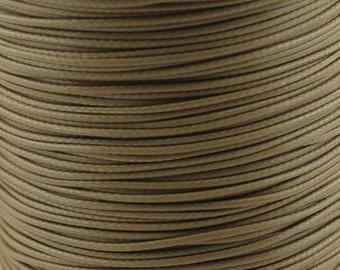 30 ft. 1.0/ 1.5/ 2.0mm Khaki Waxed Cotton Cord, Environmentally Friendly Materials