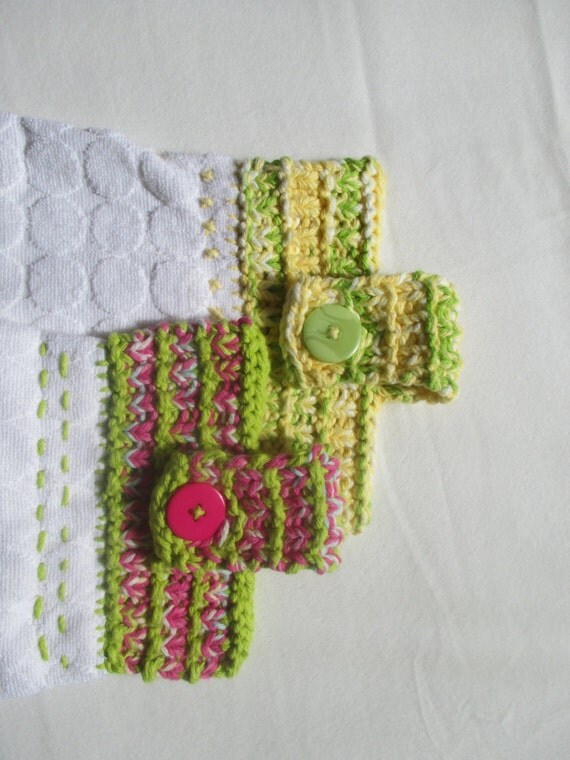 KNITTING PATTERN PDF Mothers Day Tea Towel and Pot Holder - Knit Hand To...