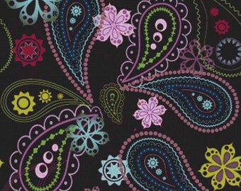Purple Paisley PDF Cross Stitch Pattern