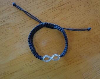 Sale Black Macrame Infinity Bracelet, Friendship Bracelet,Macrame Bracelet