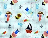 Babyville PUL Waterproof Diaper Fabric/Little Pirates-By the Yard
