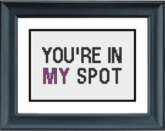You're In My Spot - the Big Bang Theory - PDF Cross-Stitch Pattern