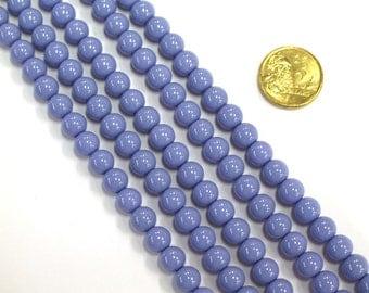 1 x 40cm Opaque Glass Bead Strand x 12mm beads RV33