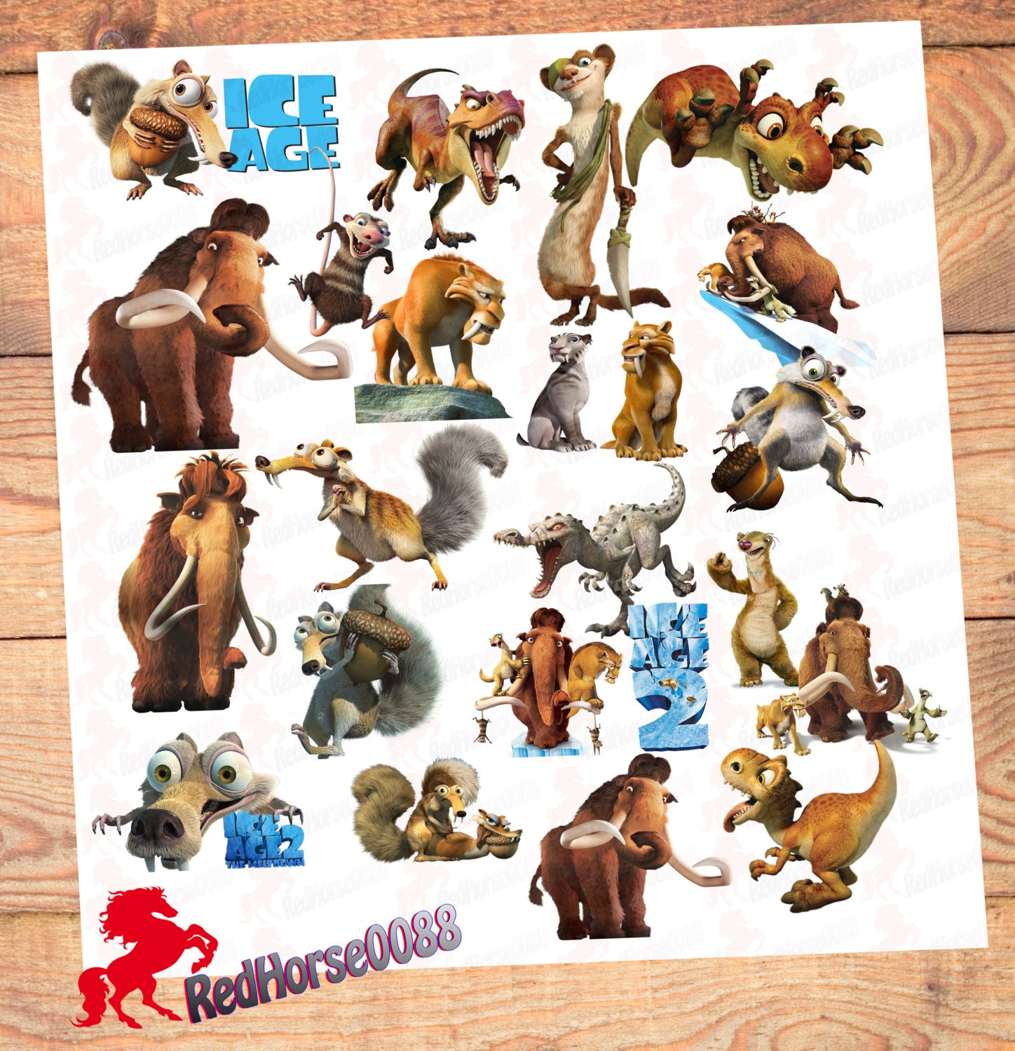 21 Ice Age Character PNG Images Decorations Clip by ...