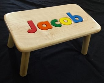 Children Personalized Puzzle Step  Stool