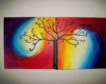 Whimsical Tree Original Painting