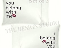 Unique Wedding Pillowcases Related Items Etsy