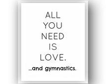 BOGO SALE! Instant Download 8x10 Gymnastics Art Print