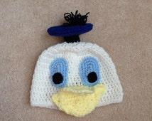 Donald Duck Hat - Kids Halloween Costume - Toddler Halloween Costume - Baby Halloween Costume