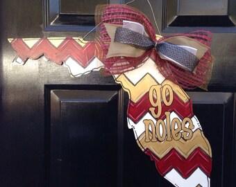 Florida State GO NOLES Doorhanger