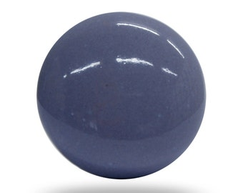 Classic Lilac Purple Round Ceramic Door Knob, Simple Drawer Pull to Upcycle your Furniture, Unique Cabinet Hardware for Any Type of Decor
