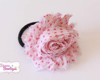Choose Shabby Chic Flower Hair Tie, Elastic Hair Tie