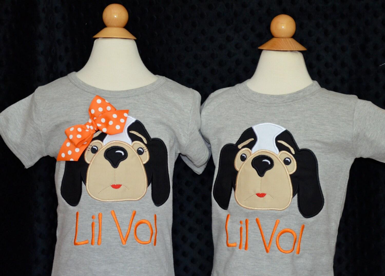 Personalized football smokey hound dog face applique shirt or for Custom dog face t shirt