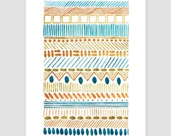 """Art print watercolor artwork """"folklore No.27"""""""