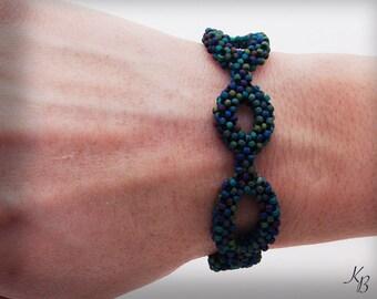 Multi Color Seed Bead Bubble Bracelet