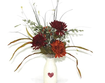 ON SALE!  Silk Flower Accent Arrangement; Country Charm in our Patique Floral Collection