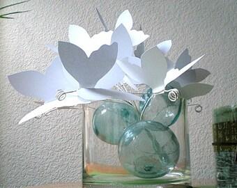 White Paper Butterflies...Paper Art