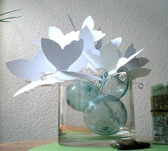 White paper butterflies paper art for White paper butterflies