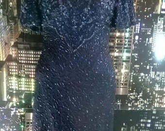 Beautiful navy sequin party dress