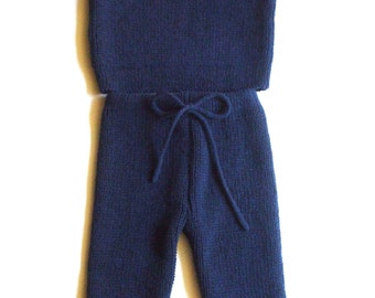 Babies/Children's knitted lambswool Sweater and Pants set /winter/toddlers/pink/blue/gray/natural/warm/thick/cardigan/jumper/trousers