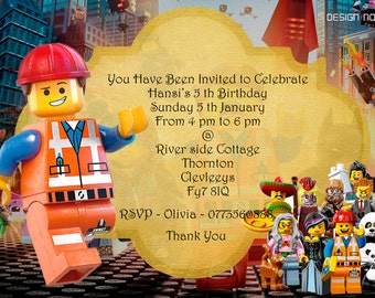 Lego Birthday Card gangcraftnet