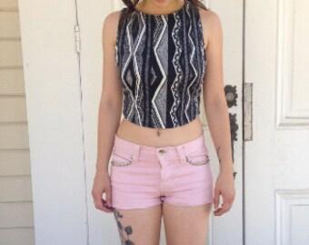 Vintage inspired sleeveless crop top