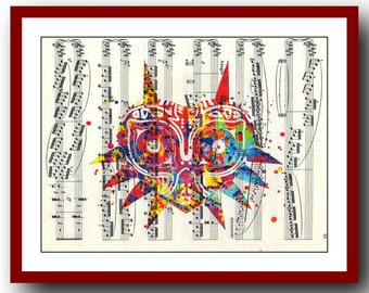 Legend of Zelda Poster Majora's Mask Game Poster Art Print Wall Illustrations Art Print 8x10 Wall Decor Book Page Art  Upcycled Dictionary