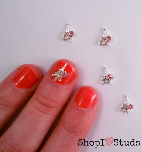 365 Days Of Nail Art March 2014: Pack Of 2 Pink Eiffel Towers Nail Art Studs/Decorations