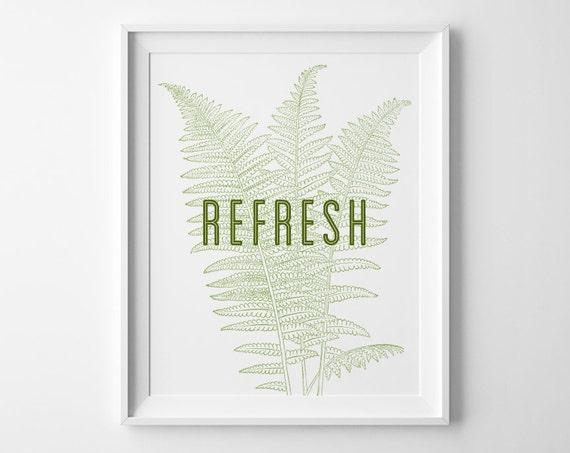 Bathroom decor inspirational print refresh by sweetpeonypress for Spring bathroom decor