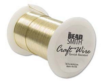 Beadsmith 18ga Gold Color Tarnish Resistant Craft Wire -  10 Yards - Jewelry Making - Crafts