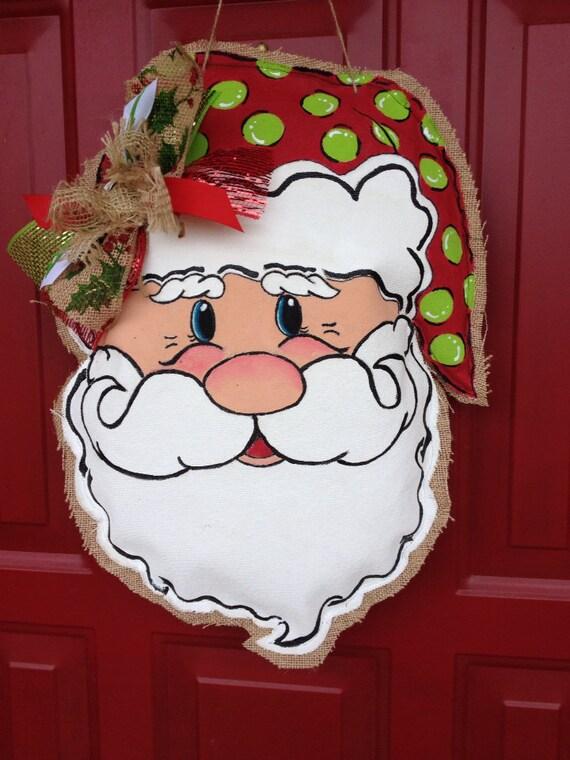 Items Similar To Santa Claus Door Hanger Christmas